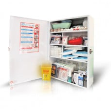 K1000 Construction Industry Compliant First Aid Kit - High Risk, Metal, Wall-mount